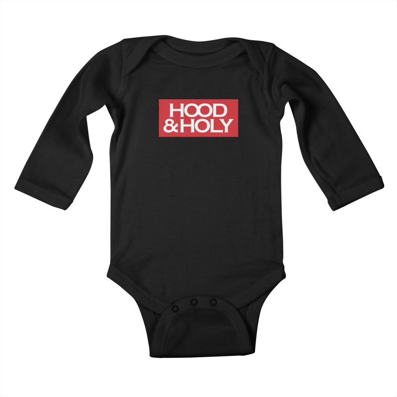 Hood & Holy Kids Baby Longsleeve Bodysuit by JADED ETERNAL