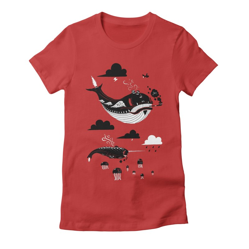 Badasses Roaming The Skies Women's Fitted T-Shirt by Jæn