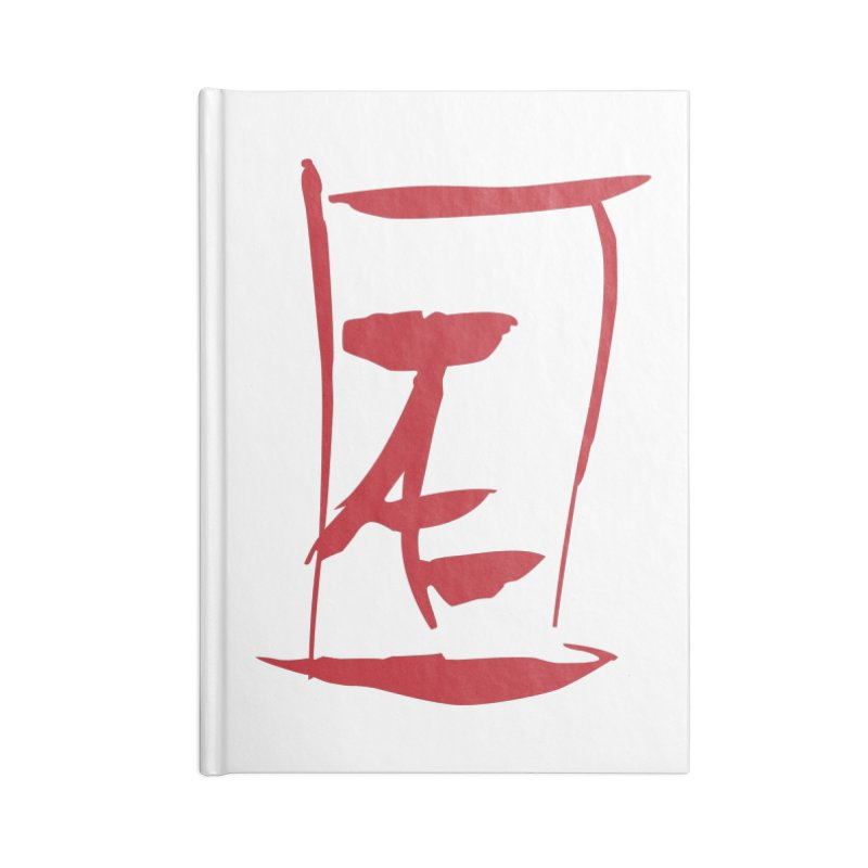 Kanji Logo Accessories Lined Journal Notebook by Jae Pereira's Shop