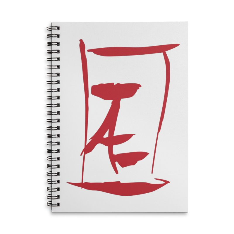 Kanji Logo Accessories Lined Spiral Notebook by Jae Pereira's Shop