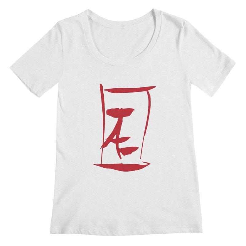 Kanji Logo Women's Regular Scoop Neck by Jae Pereira's Shop