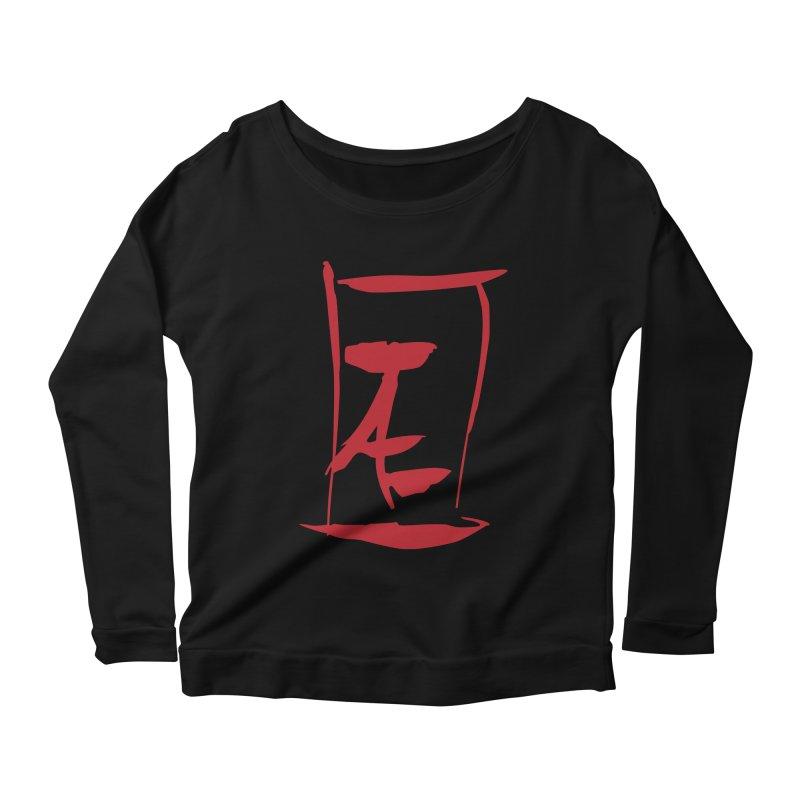 Kanji Logo Women's Scoop Neck Longsleeve T-Shirt by Jae Pereira's Shop