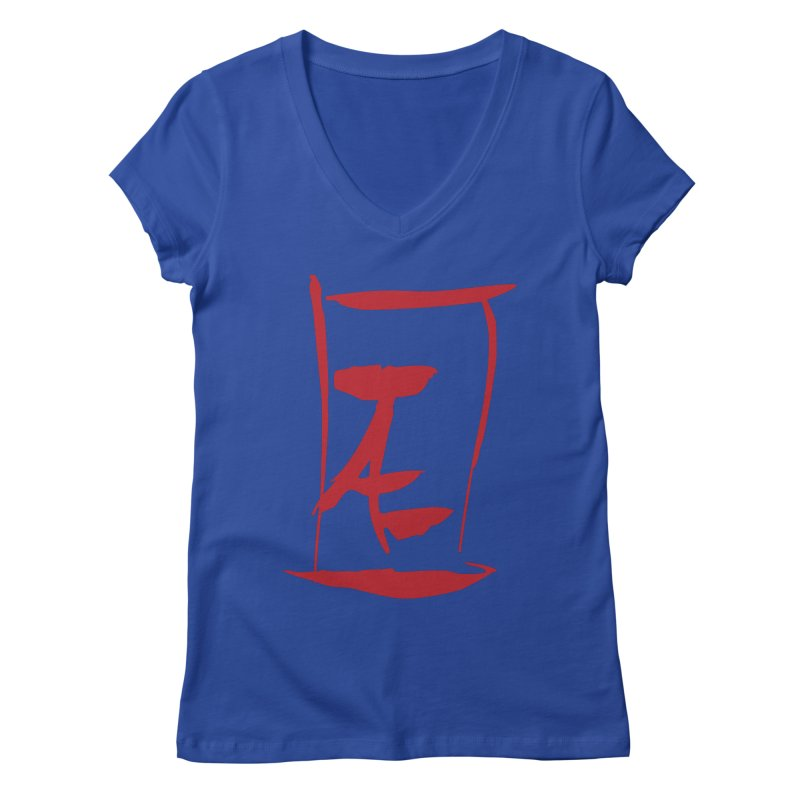 Kanji Logo Women's Regular V-Neck by Jae Pereira's Shop