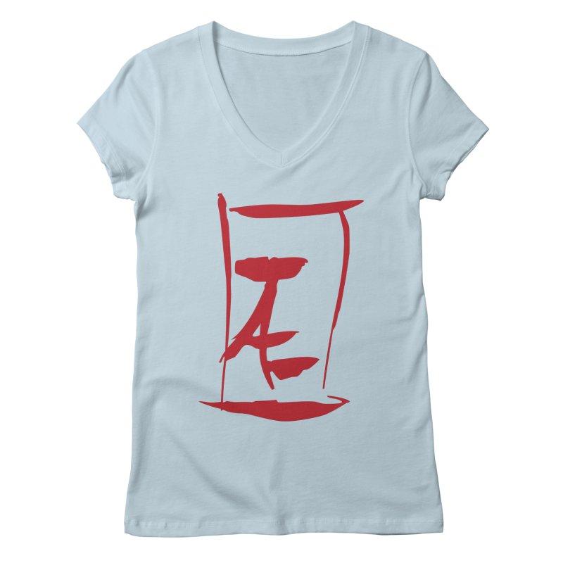Kanji Logo Women's V-Neck by Jae Pereira's Shop