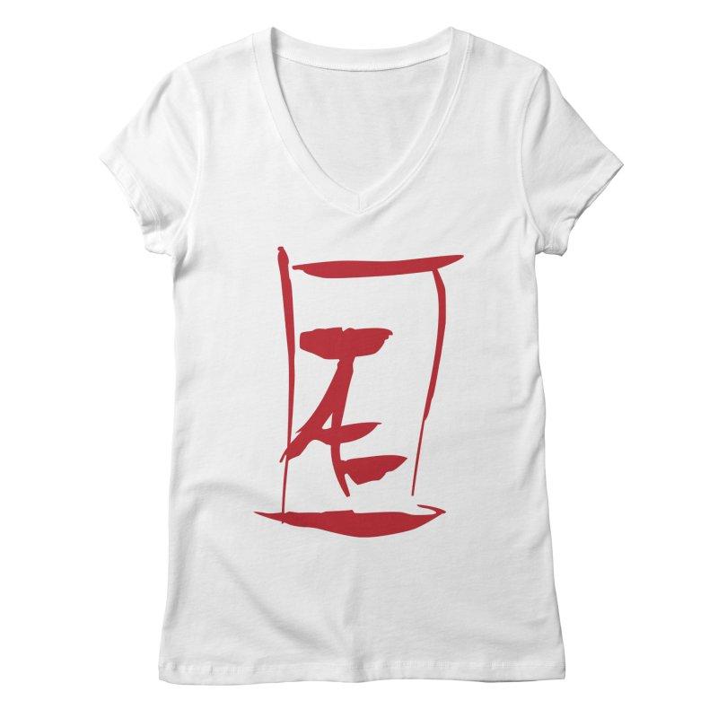 Kanji Logo Women's Regular V-Neck by Jae Pereira's Shop