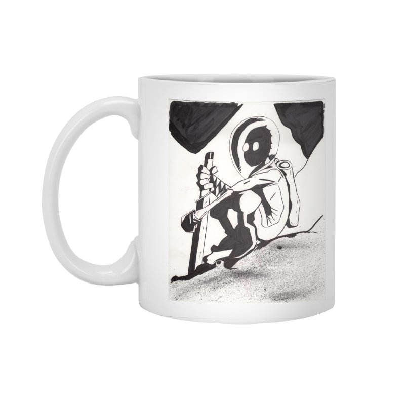 Mysterious Swordsman Accessories Standard Mug by Jae Pereira's Shop
