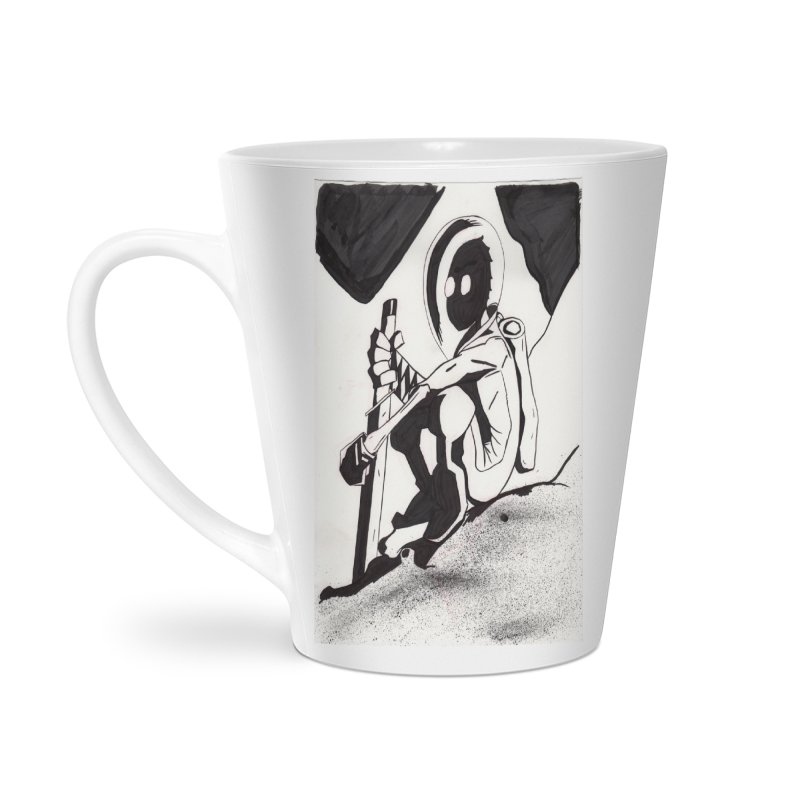 Mysterious Swordsman Accessories Latte Mug by Jae Pereira's Shop