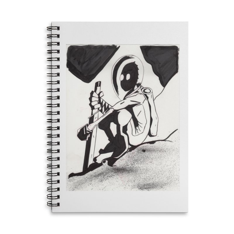 Mysterious Swordsman Accessories Lined Spiral Notebook by Jae Pereira's Shop