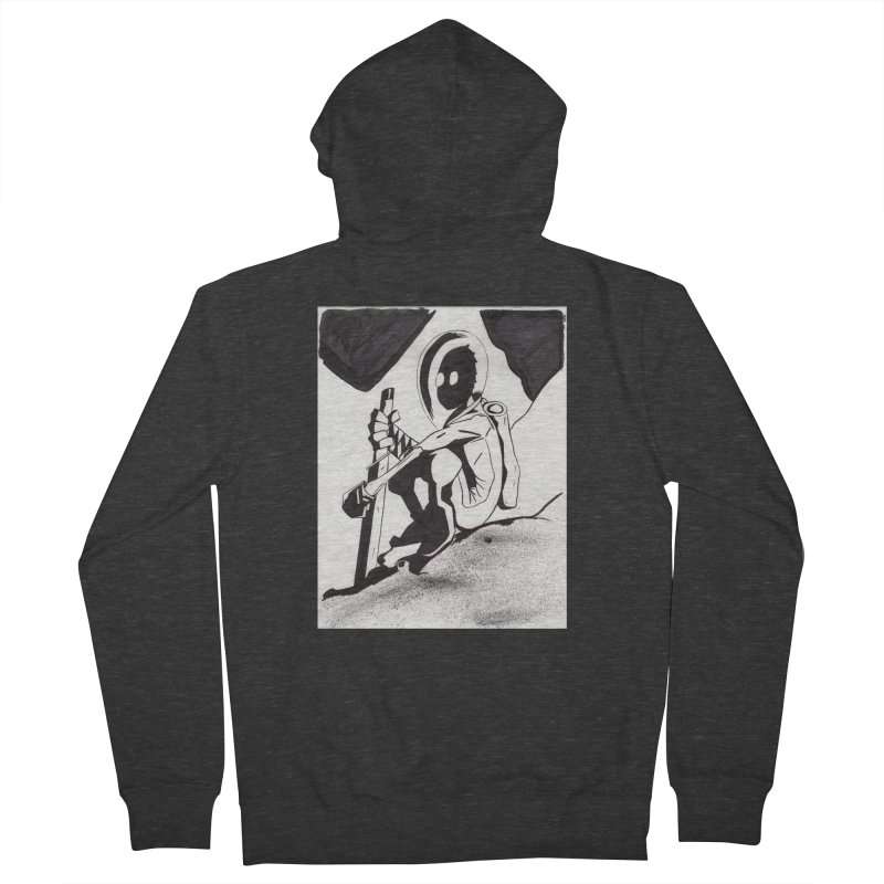 Mysterious Swordsman Women's French Terry Zip-Up Hoody by Jae Pereira's Shop