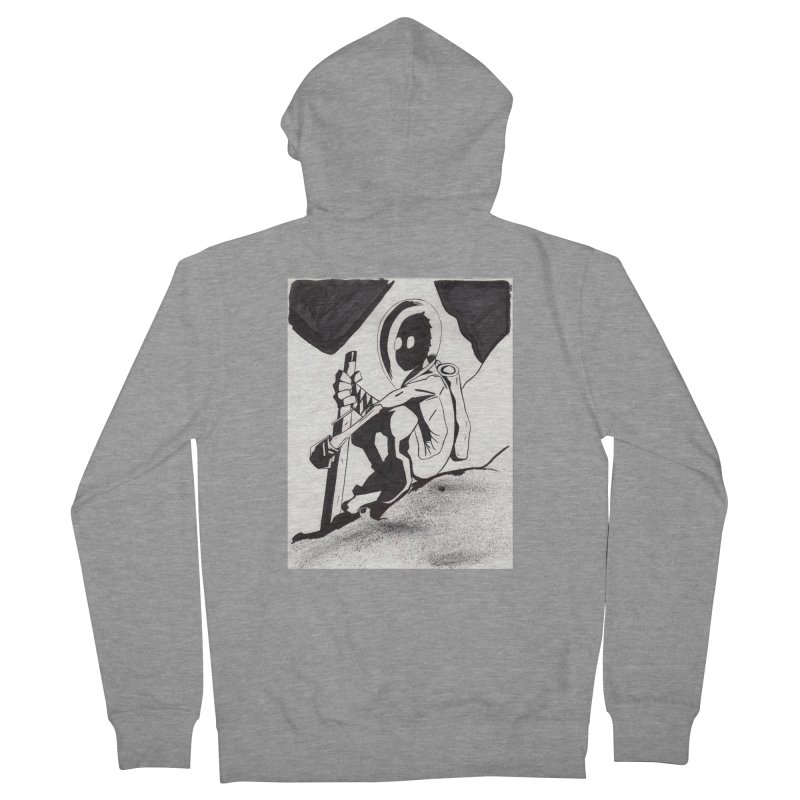 Mysterious Swordsman Men's French Terry Zip-Up Hoody by Jae Pereira's Shop