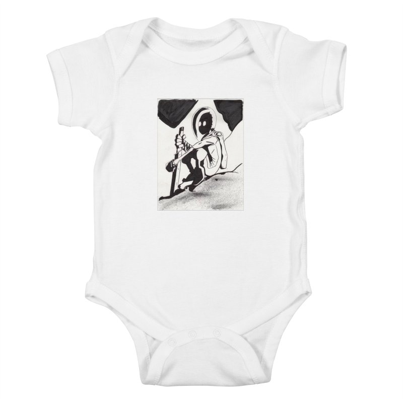 Mysterious Swordsman Kids Baby Bodysuit by Jae Pereira's Shop
