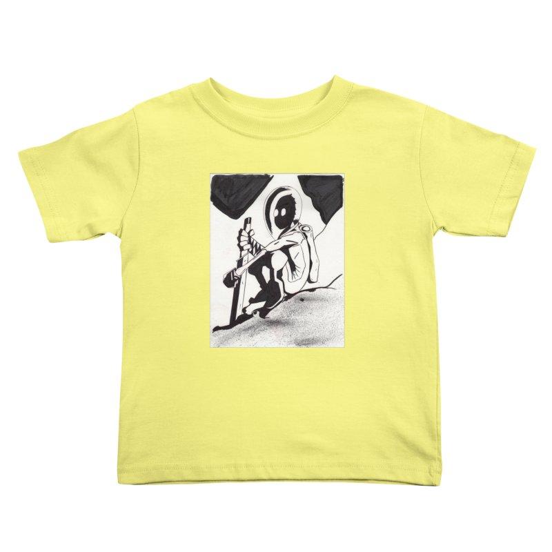 Mysterious Swordsman Kids Toddler T-Shirt by Jae Pereira's Shop