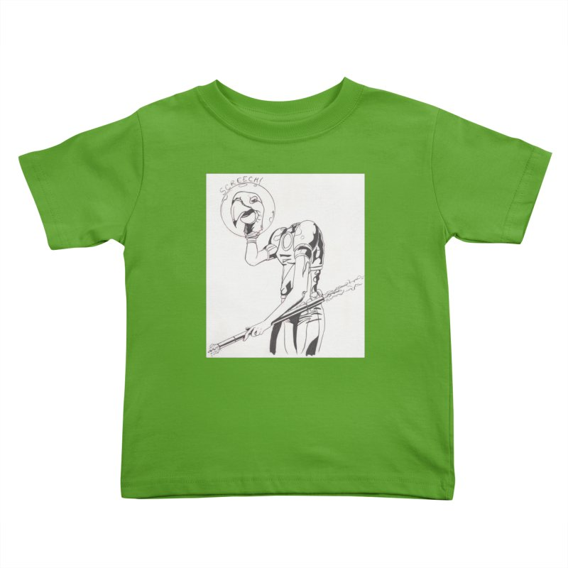 Screech! Kids Toddler T-Shirt by Jae Pereira's Shop