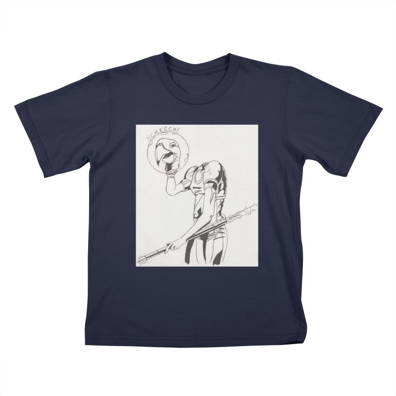 Screech! Kids T-Shirt by Jae Pereira's Shop