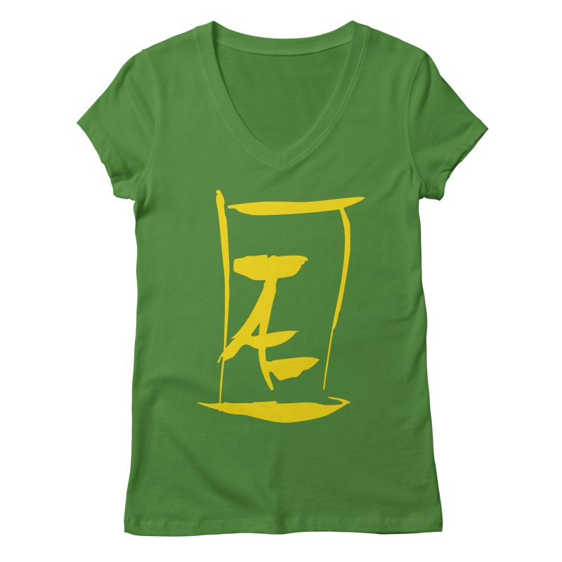 Jae Kanji Logo (G) Women's Regular V-Neck by Jae Pereira's Shop