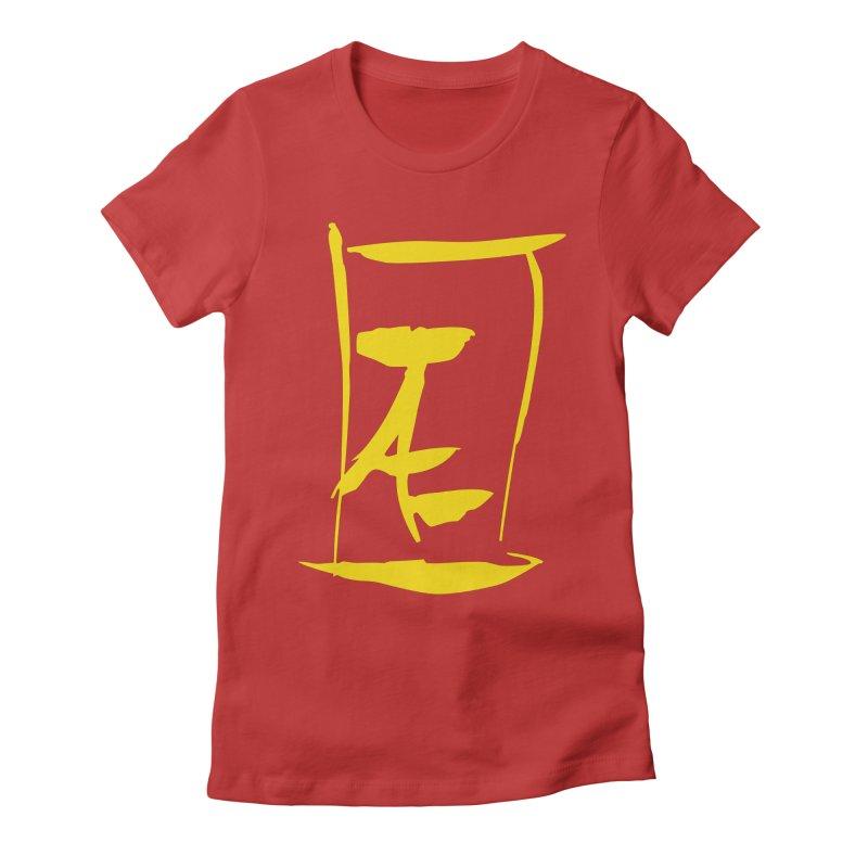 Jae Kanji Logo (G) Women's Fitted T-Shirt by Jae Pereira's Shop