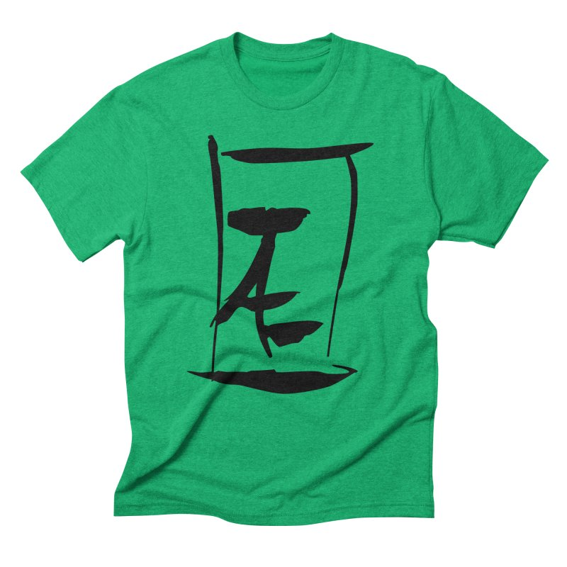 Jae Kanji Logo (Bk) Men's Triblend T-Shirt by Jae Pereira's Shop