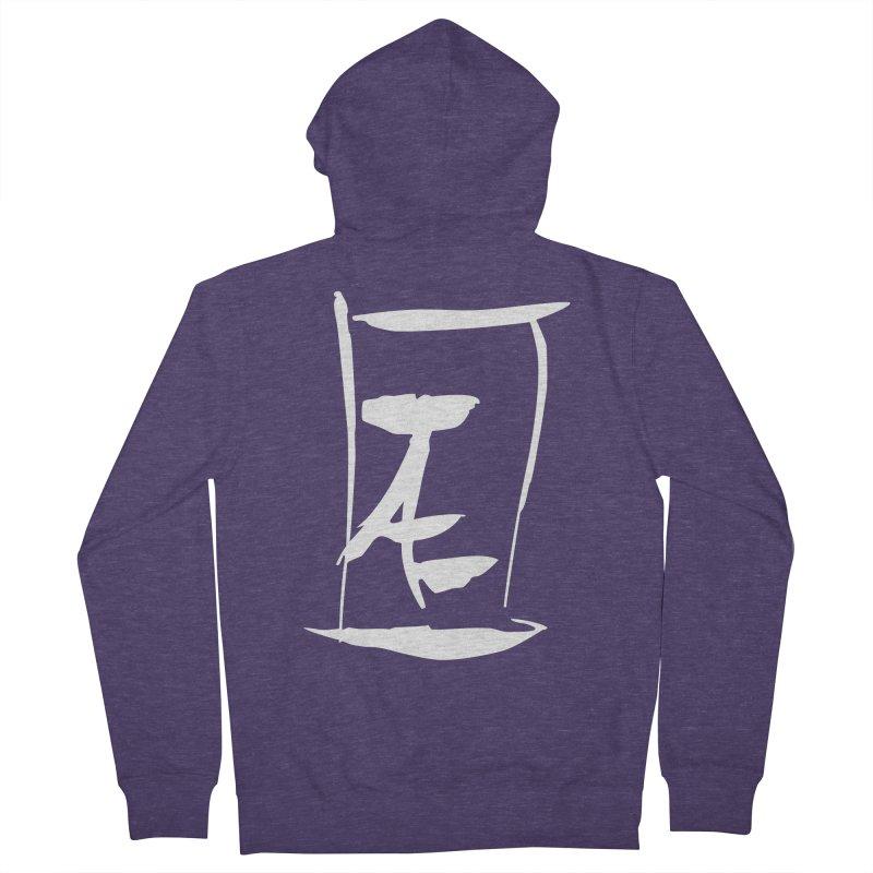 Jae Kanji Logo (W) Men's Zip-Up Hoody by Jae Pereira's Shop