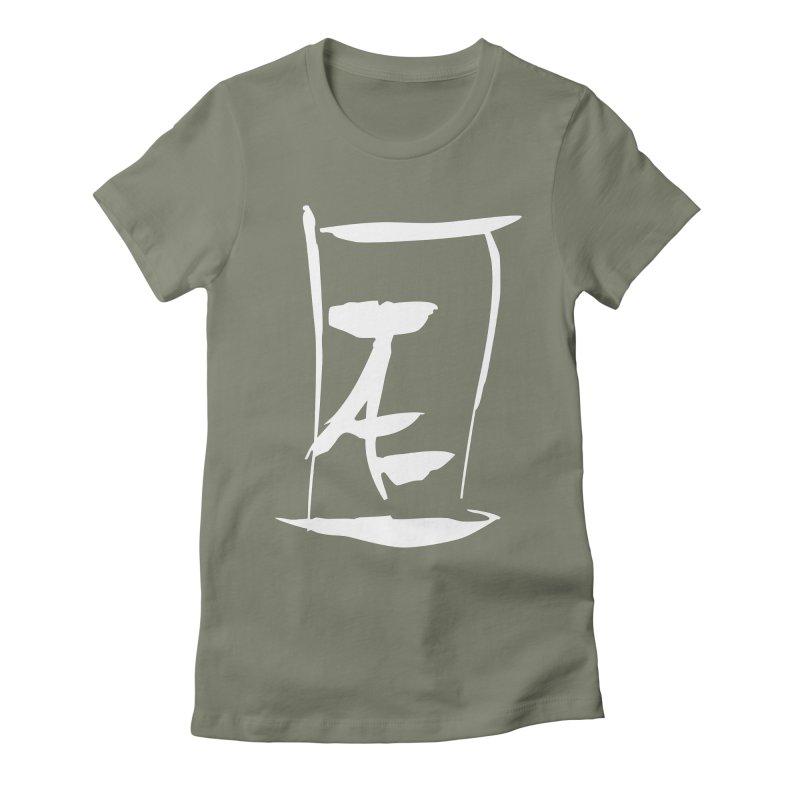 Jae Kanji Logo (W) Women's Fitted T-Shirt by Jae Pereira's Shop