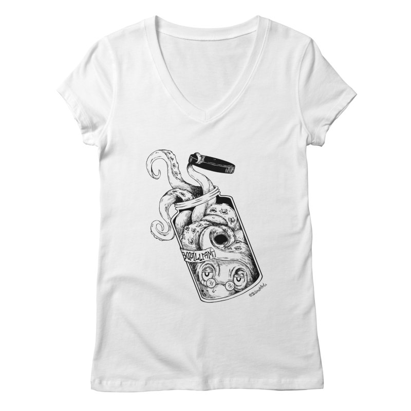 Sir Squilliam Women's V-Neck by jailbreakarts's Artist Shop