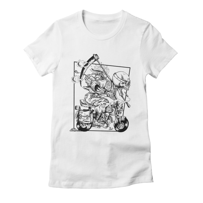 Death Riding Women's Fitted T-Shirt by jailbreakarts's Artist Shop