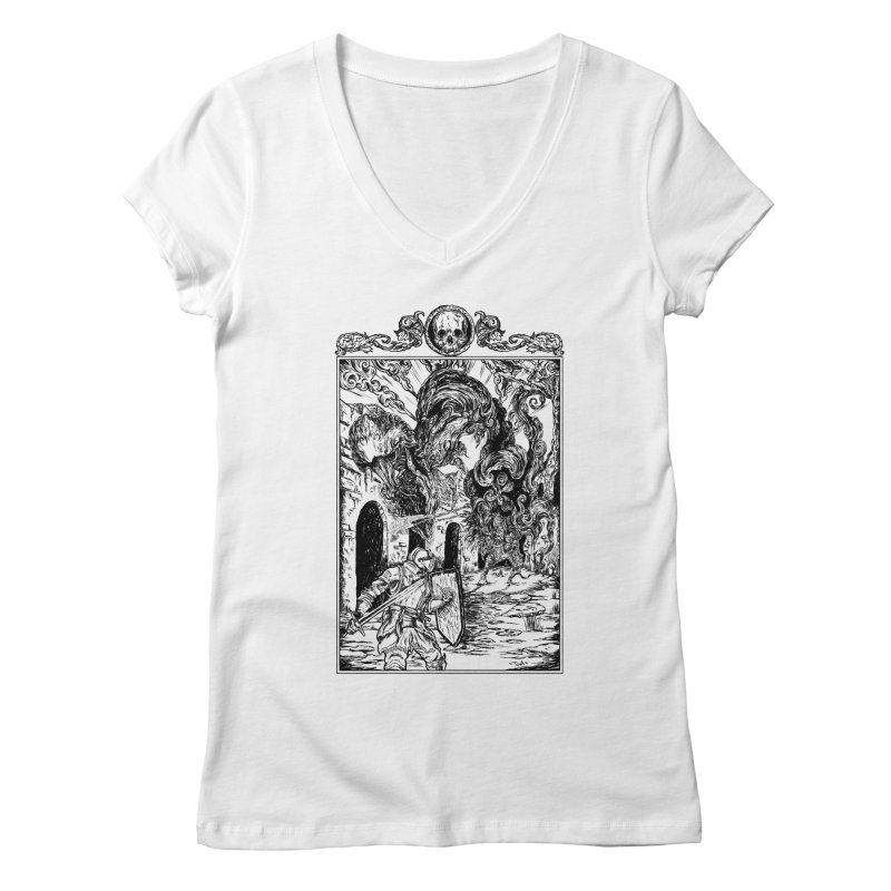 Fight The Third Soul Women's V-Neck by jailbreakarts's Artist Shop