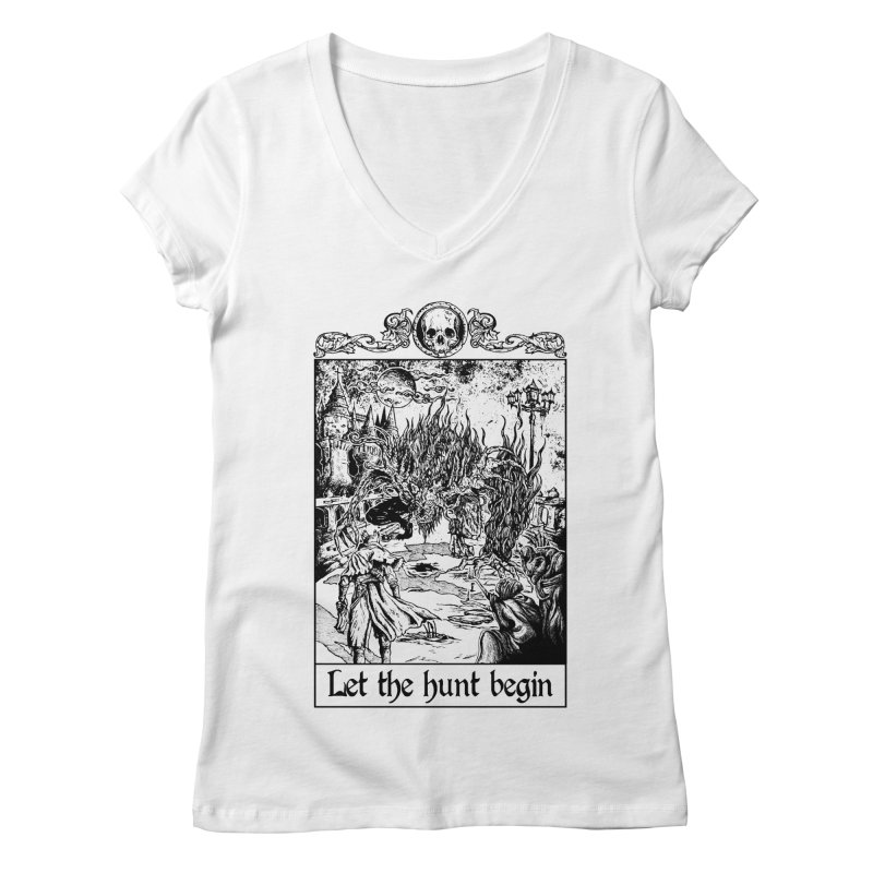 Let The Hunt Begin Women's V-Neck by jailbreakarts's Artist Shop