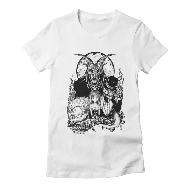 Midnight Dreams Women's Fitted T-Shirt by jailbreakarts's Artist Shop