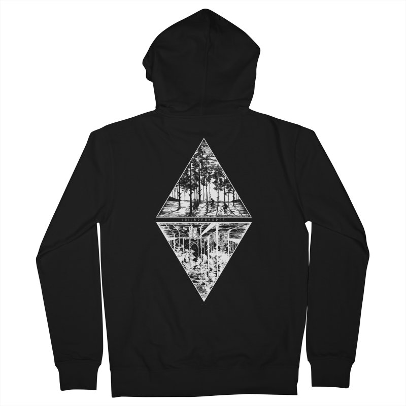 The Upside-Down (Black Shirt) Men's Zip-Up Hoody by JailbreakArts's Artist Shop