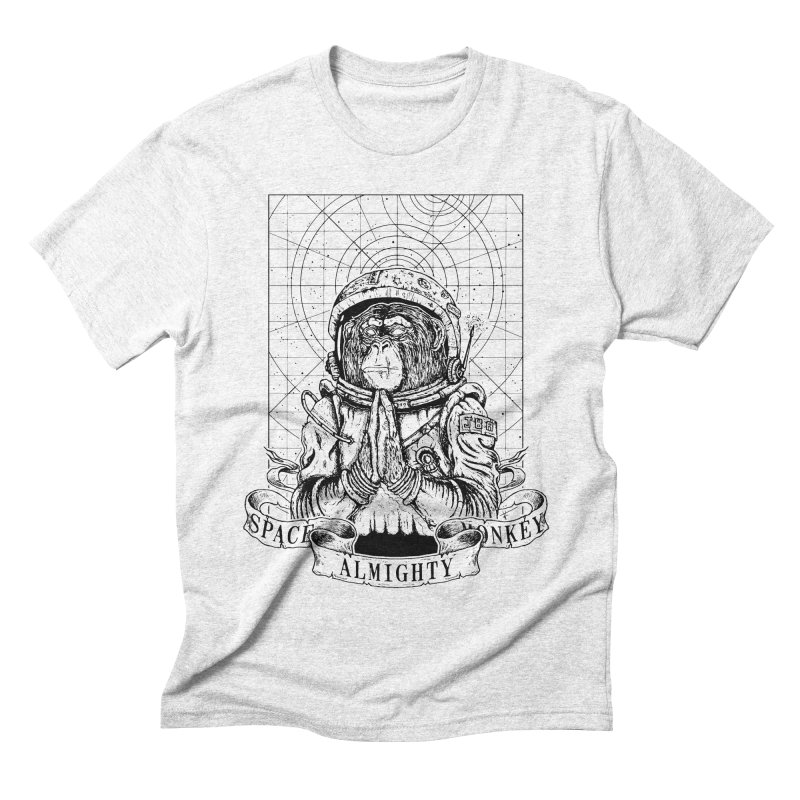 Almighty Space Monkey Men's Triblend T-shirt by JailbreakArts's Artist Shop