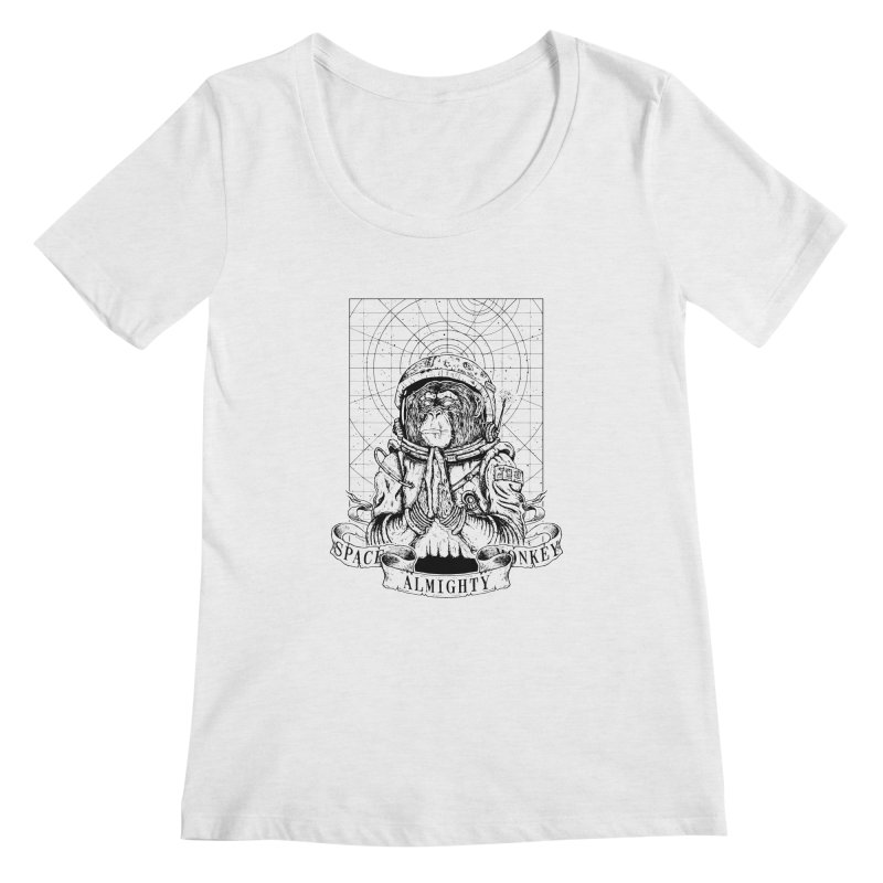Almighty Space Monkey Women's Scoopneck by JailbreakArts's Artist Shop