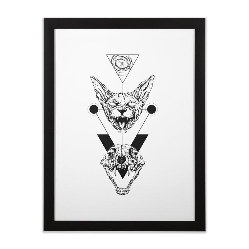 Double Sphynx Home Framed Fine Art Print by JailbreakArts's Artist Shop