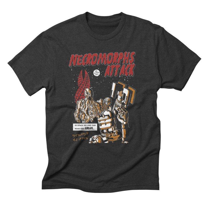 The Necromorphs Attack Men's Triblend T-Shirt by JailbreakArts's Artist Shop