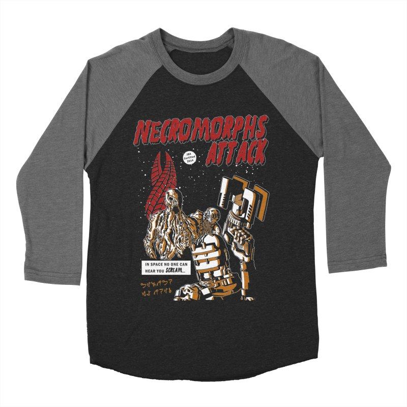 The Necromorphs Attack Men's Baseball Triblend T-Shirt by JailbreakArts's Artist Shop
