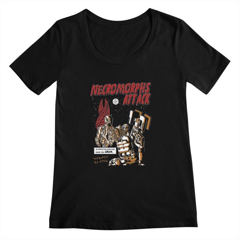 The Necromorphs Attack Women's Scoopneck by JailbreakArts's Artist Shop