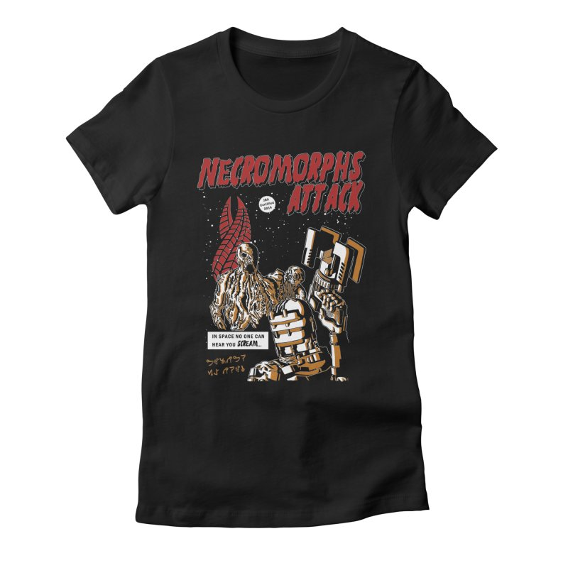 The Necromorphs Attack Women's Fitted T-Shirt by JailbreakArts's Artist Shop