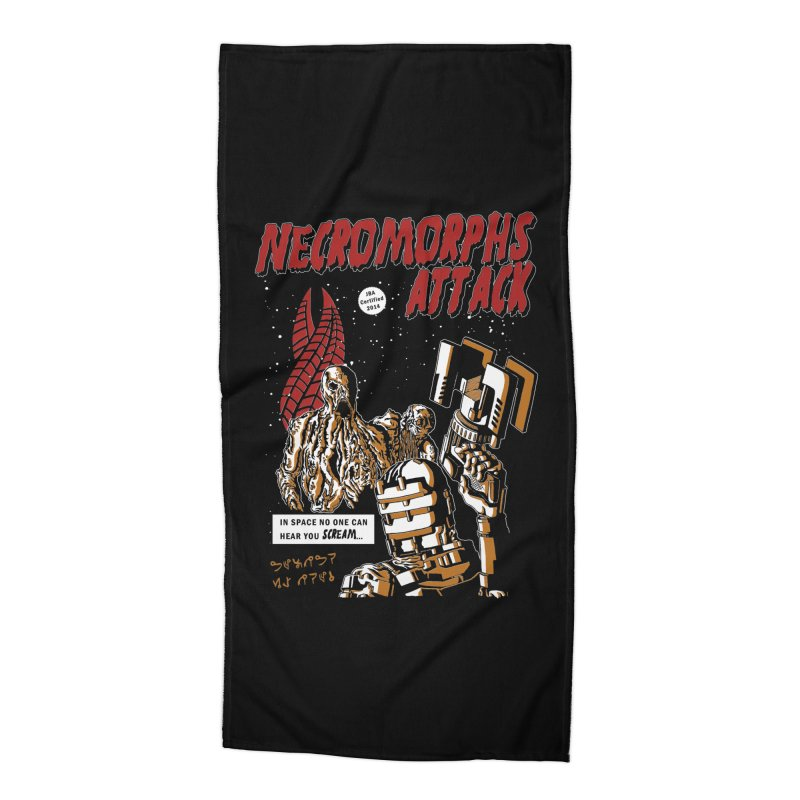 The Necromorphs Attack Accessories Beach Towel by JailbreakArts's Artist Shop