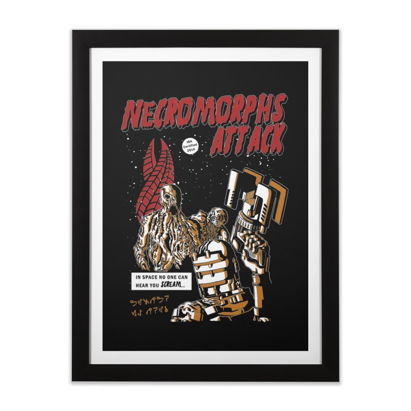 The Necromorphs Attack in Framed Fine Art Print Black by JailbreakArts's Artist Shop
