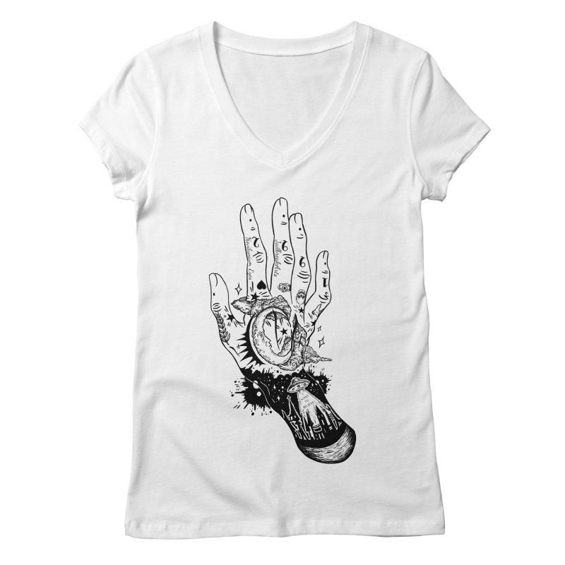 Tattooed Hand Women's V-Neck by JailbreakArts's Artist Shop