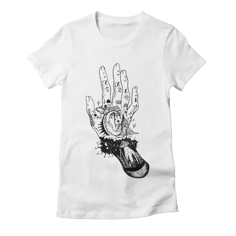 Tattooed Hand Women's Fitted T-Shirt by JailbreakArts's Artist Shop