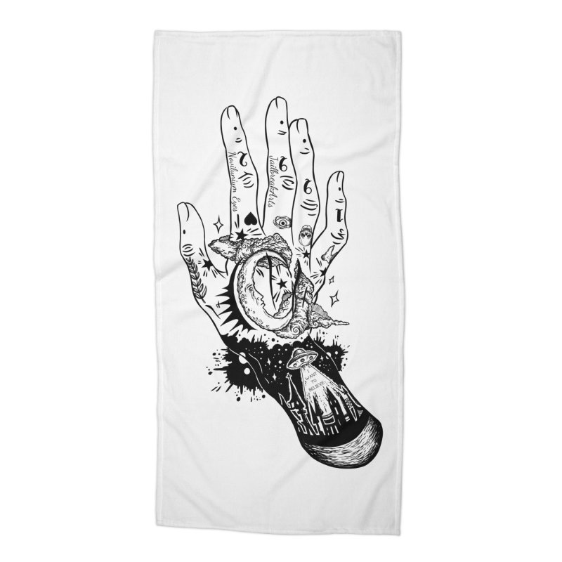 Tattooed Hand Accessories Beach Towel by JailbreakArts's Artist Shop