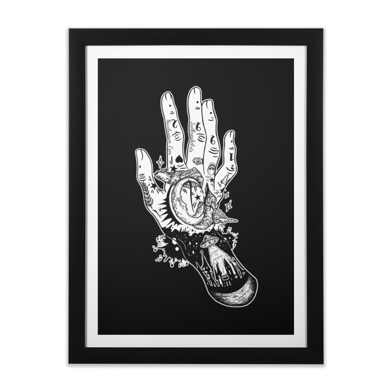Tattooed Hand White Version Home Framed Fine Art Print by JailbreakArts's Artist Shop