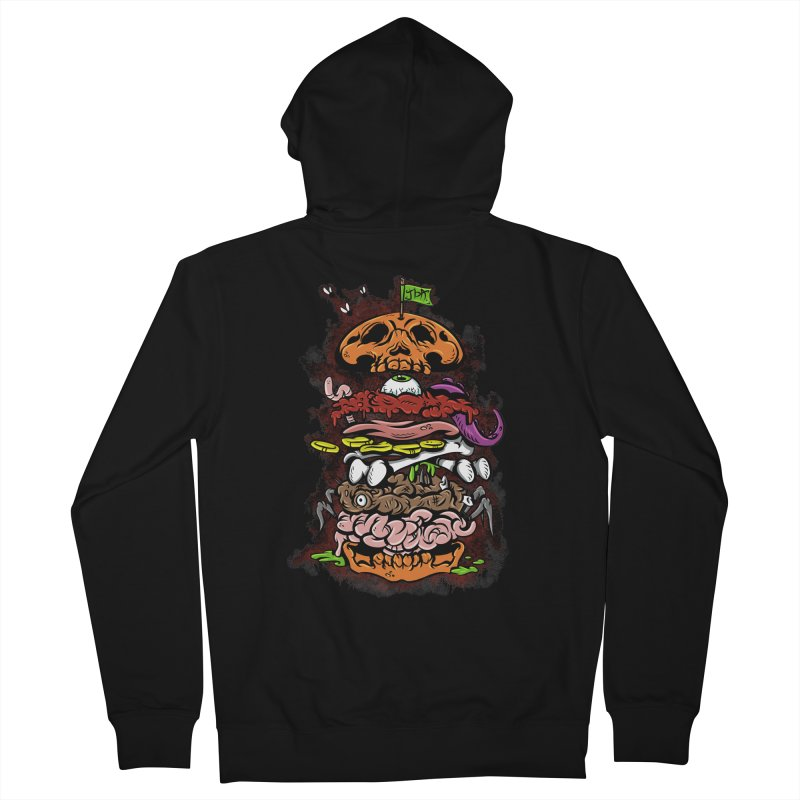 Horror Burger Men's Zip-Up Hoody by JailbreakArts's Artist Shop