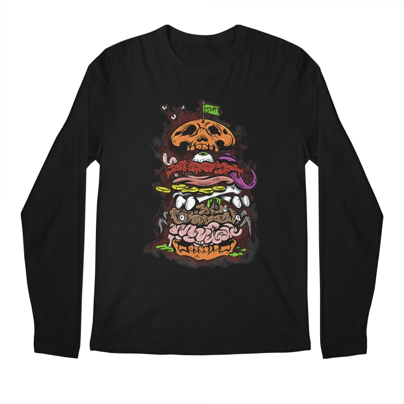 Horror Burger Men's Longsleeve T-Shirt by JailbreakArts's Artist Shop