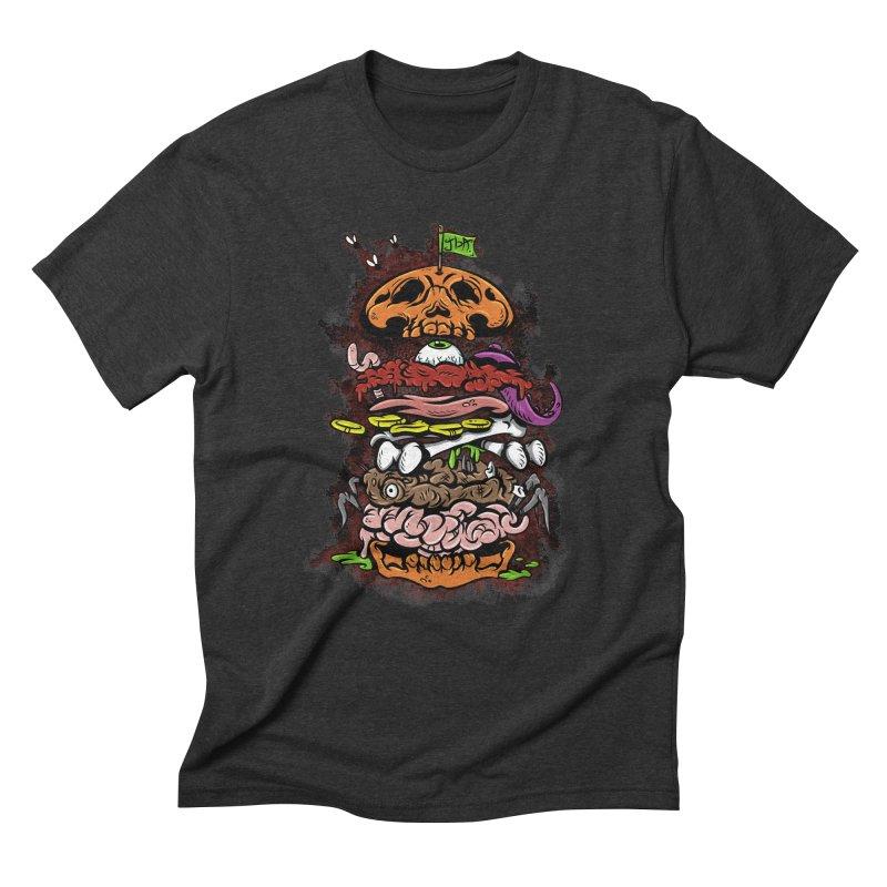 Horror Burger Men's Triblend T-Shirt by JailbreakArts's Artist Shop