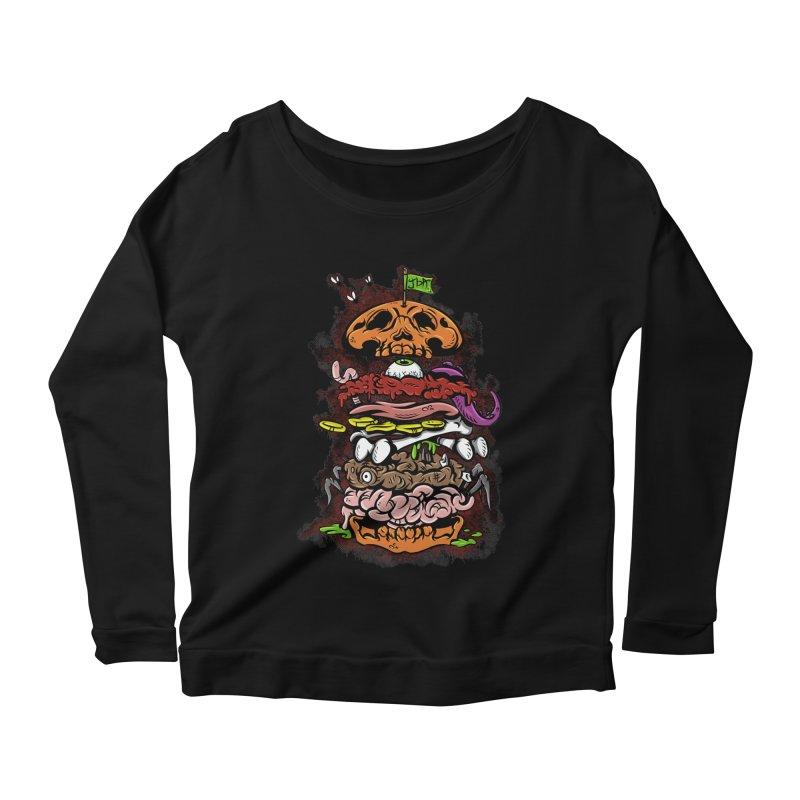 Horror Burger Women's Longsleeve Scoopneck  by JailbreakArts's Artist Shop