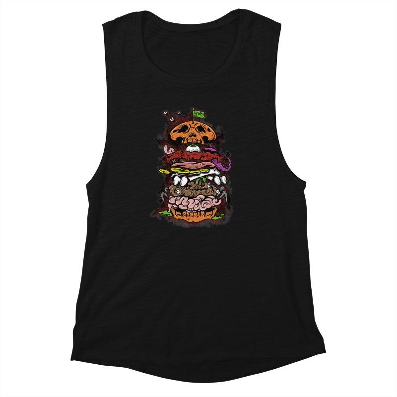 Horror Burger Women's Muscle Tank by JailbreakArts's Artist Shop
