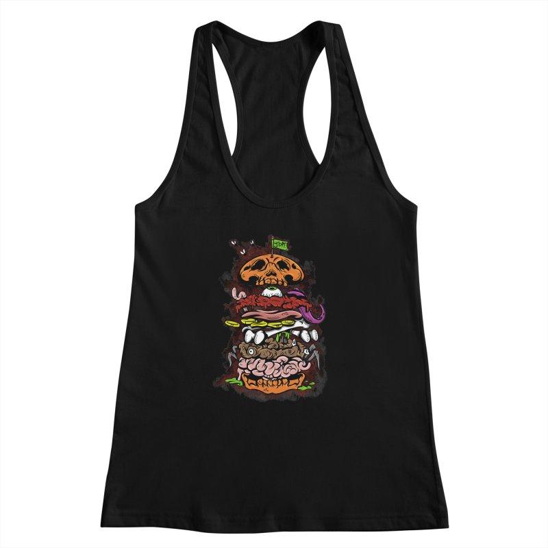Horror Burger Women's Racerback Tank by JailbreakArts's Artist Shop