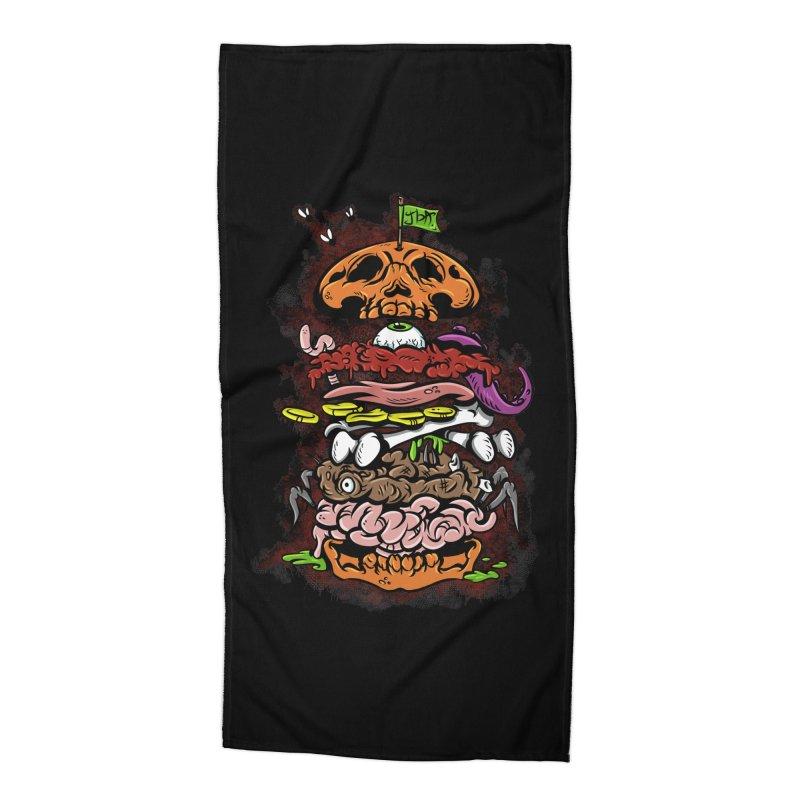 Horror Burger Accessories Beach Towel by JailbreakArts's Artist Shop