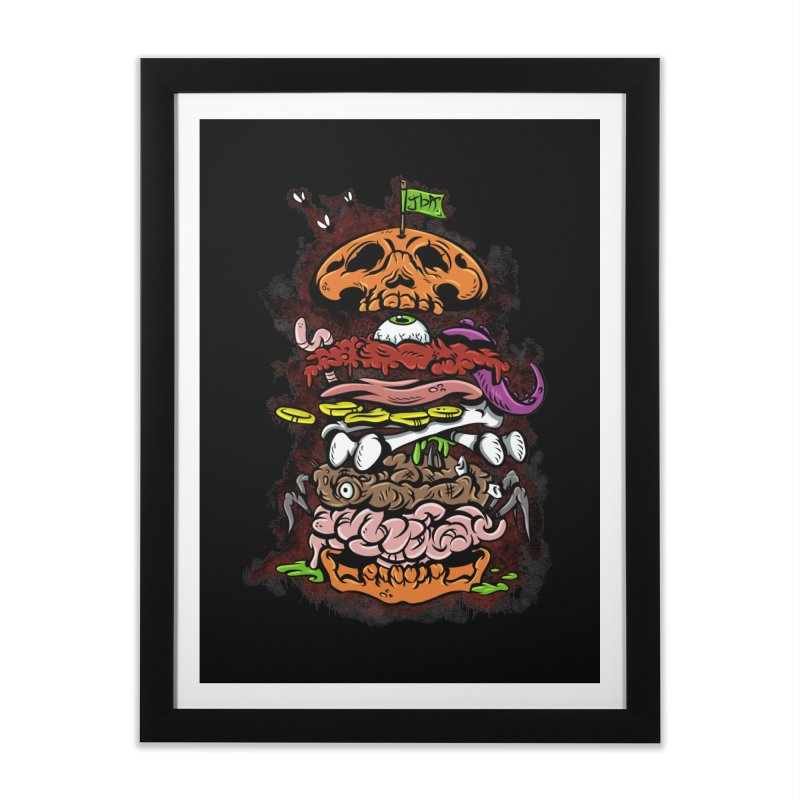 Horror Burger Home Framed Fine Art Print by JailbreakArts's Artist Shop